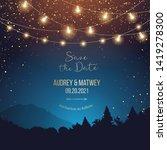 magic night wedding lights... | Shutterstock .eps vector #1419278300