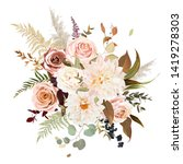 moody boho chic wedding vector... | Shutterstock .eps vector #1419278303