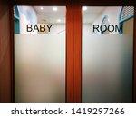 baby room automatic door at... | Shutterstock . vector #1419297266