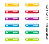 colorful set of home buttons | Shutterstock .eps vector #141931498