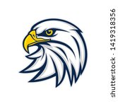 eagle head logo vector... | Shutterstock .eps vector #1419318356