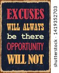 excuses will always be there... | Shutterstock .eps vector #1419352703