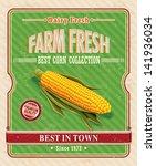 vintage farm fresh organic... | Shutterstock .eps vector #141936034