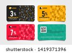 discount card or voucher fast... | Shutterstock .eps vector #1419371396