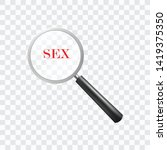 search sex world with magnifier ... | Shutterstock .eps vector #1419375350