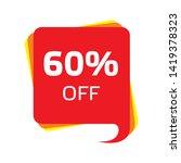 discount price sale bubble... | Shutterstock .eps vector #1419378323
