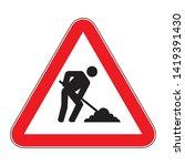 under construction sign on... | Shutterstock .eps vector #1419391430