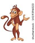 Cartoon Funny Monkey Chimpanze...