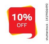 discount price sale bubble... | Shutterstock .eps vector #1419406490