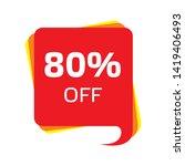 discount price sale bubble... | Shutterstock .eps vector #1419406493