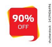 discount price sale bubble... | Shutterstock .eps vector #1419406496