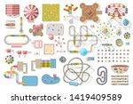 set of landscape elements.... | Shutterstock .eps vector #1419409589