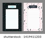 set of multicolored notes list... | Shutterstock .eps vector #1419411203