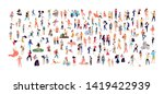 crowd of flat illustrated... | Shutterstock .eps vector #1419422939