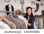 portrait of happy female... | Shutterstock . vector #141944083