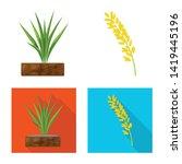vector design of crop and... | Shutterstock .eps vector #1419445196