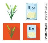 vector design of crop and... | Shutterstock .eps vector #1419448313
