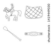 isolated object of horseback... | Shutterstock .eps vector #1419449030