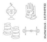 vector design of horseback and... | Shutterstock .eps vector #1419449930