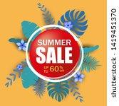 summer sale template banner ... | Shutterstock .eps vector #1419451370
