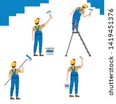 set painter proffessional... | Shutterstock .eps vector #1419451376