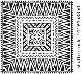 seamless ethnic pattern. black... | Shutterstock .eps vector #1419453350