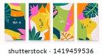 modern artistic cards design... | Shutterstock .eps vector #1419459536