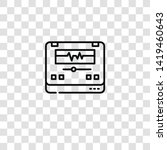 audio editor icon from ... | Shutterstock .eps vector #1419460643