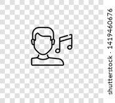 music therapy icon from ... | Shutterstock .eps vector #1419460676