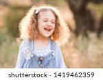 laughing baby girl 3 4 year old ... | Shutterstock . vector #1419462359