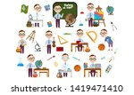 set boy with glasses. student... | Shutterstock .eps vector #1419471410