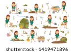 set girl with hair decoration...   Shutterstock .eps vector #1419471896