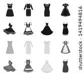 vector design of dress and...   Shutterstock .eps vector #1419494816