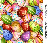 easter greeting card with cute...   Shutterstock . vector #141949798