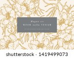 vintage card with narrow leaved ... | Shutterstock .eps vector #1419499073