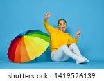 woman in glasses joyful in a...   Shutterstock . vector #1419526139