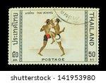 thailand   circa 1981 a stamp... | Shutterstock . vector #141953980