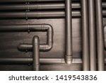 copper pipe. difficult...   Shutterstock . vector #1419543836