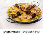 Seafood Paella With  Prawns ...