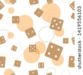 seamless pattern of brown dice... | Shutterstock .eps vector #1419556103