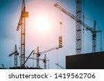 Construction Site. Crane...