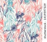 silver princess flower seamless ... | Shutterstock .eps vector #1419597329
