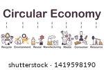 circular economy icon  recycle  ...