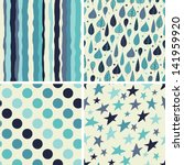 a set of four seamless patterns.... | Shutterstock .eps vector #141959920