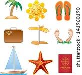 summer icons | Shutterstock .eps vector #141960190