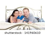 young parents with their sweet... | Shutterstock . vector #141960610