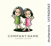 awesome child logo design... | Shutterstock .eps vector #1419606563
