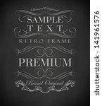 chalk  typography  calligraphic ...   Shutterstock .eps vector #141961576