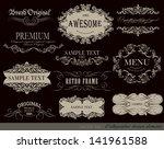 calligraphic design elements... | Shutterstock .eps vector #141961588