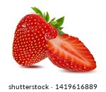fresh strawberry isolated on... | Shutterstock . vector #1419616889